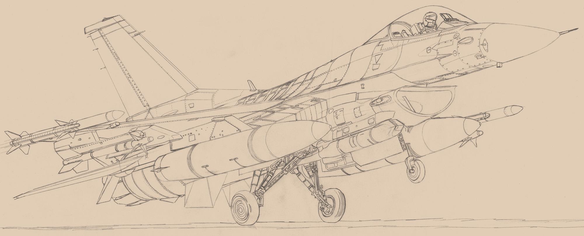 F-16CJ - Block 50 F-16CJ-Block50-Lineaire